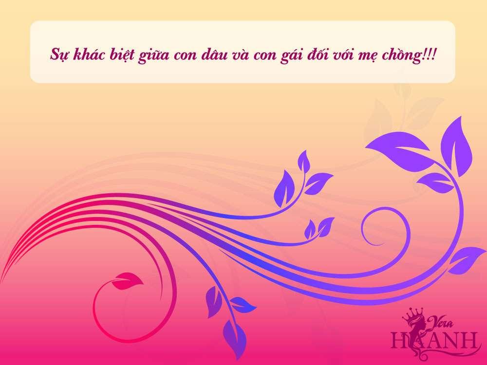 Sự khác biệt giữa con dâu và con gái đối với mẹ chồng - Sự khác biệt giữa con dâu và con gái đối với mẹ chồng!!!