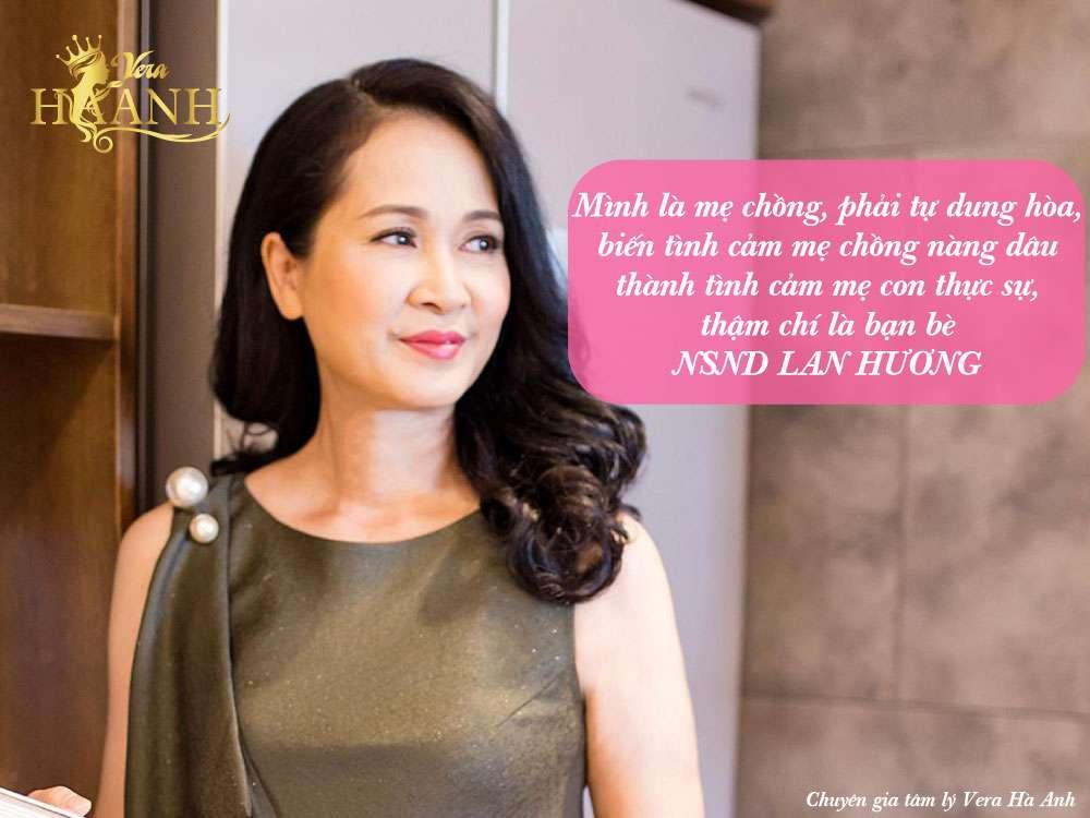câu nói hay của NSND Lan Hương - Sự khác biệt giữa con dâu và con gái đối với mẹ chồng!!!