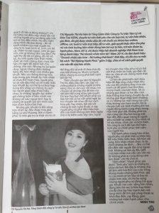 67848276 486038645522100 7916815574930292736 n 224x300 - Tạp chí Thanh niên và Phụ Nữ Thủ Đô viết về Tiến sĩ - Kỷ lục gia Vera Hà Anh
