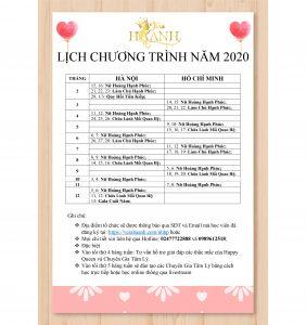 LICH CHUONG TRINH 2020 WEB 282x300 - Lịch chương trình năm 2020 của Vera Hà Anh